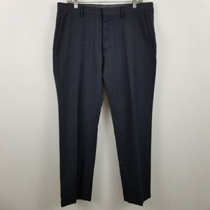 Banana Republic Tailored Slim Fit Flat Front Blue